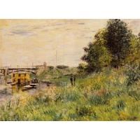Cheap Impressionist(3830) The_Banks_of_the_Seine_at_the_Argenteuil_Bridge wholesale