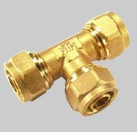 Cheap Compression fittings for pex pipe Tee wholesale