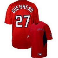 Cheap Mlb replica jerseys,Anaheim Angels 27 V.Guerrero red wholesale