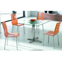 China Glass top dining table on sale