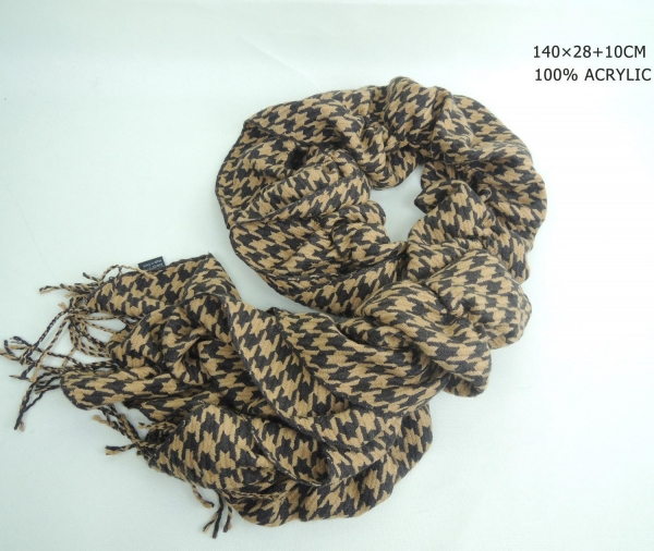 Quality Yellow long fashion winter acrylic scarf for sale