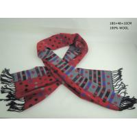 Cheap Red spot long wool printing scarf wholesale