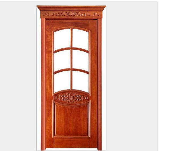 S09 customized panel door interior door solid wood door for Solid wood door construction