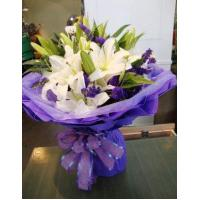 Cheap Birthday 6 stem lilies with statice delivery NO.1 birthday gift to austr wholesale