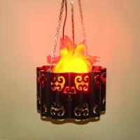 Good Quality 10W Electronic LED Hanging Artificial Silk Flame Effect Light