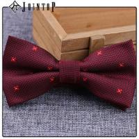 stock low moq 10 extra long burgundy bow tie