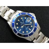 Cheap ALPHA SUBMARINER IRON BLUE DIAL SAPPHIRE CRYSTAL AUTOMATIC MANS WATCH MIYOTA JAPAN MOVEMENT wholesale