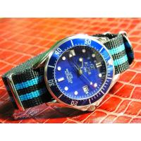Cheap ALPHA 21 JEWELS BLUE DIAL/BEZEL AUTOMATIC MANS WATCH WITH JAMES BOND NATO BAND wholesale