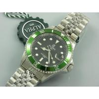 Cheap ALPHA SUBMARINER GREEN BEZEL JUBILEE BRACELET SAPPHIRE CRYSTAL AUTOMATIC WATCH MIYOTA JAPAN MOVEMENT wholesale