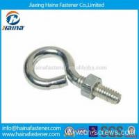 Cheap Stainless steel hook bolt long stub eye bolt with nut wholesale