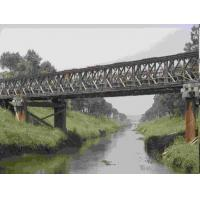 Cheap Universal Surface Painted Long Span Bridge , Temporary Modular Bridge For Engineering wholesale