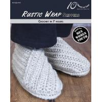 Cheap CROCHET PATTERNS RUSTIC WRAP Youth & Adult Slippers wholesale
