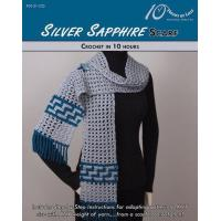CROCHET PATTERNS SILVER SAPPHIRE Scarf