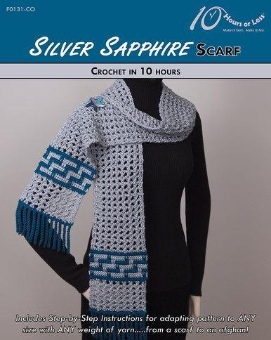 Quality CROCHET PATTERNS SILVER SAPPHIRE Scarf for sale
