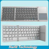 Cheap Harlit 3-Fold Bluetooth Keyboard With Trackpad Function For Tablet PC Smart Phone and Computer wholesale