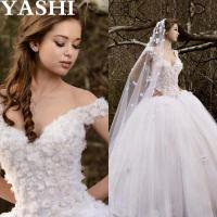 Cheap Cap Sleeves Puffy Bridal Ball Gown Crystal Flowers Wedding Dresses Wd99 wholesale