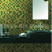 Green Yellow Recycled Glass Mosaic Tile Bathroom Tile Mr004 Of Miusartmosaics
