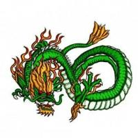 Cheap Chinese Dragon Martial Arts Embroidery Design wholesale