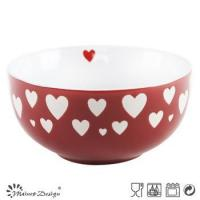 Cheap China supplier ceramic bowls,stoneware salad bowl set,two tone bowl china style wholesale