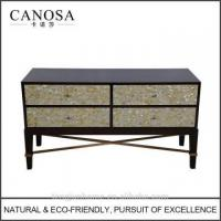 Cheap ECO-Friendly yellow mother of pearl inlaid Storage Cabinet wholesale