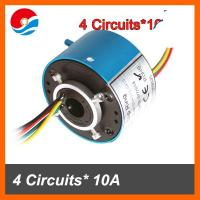 China Miniature bore size 12.7mm (0.5'') of through hole slip ring 4 circuits/wires 10A on sale