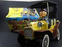 China 2 Vintage 1961 Hubley Mr Magoo Japan Tin Litho Battery Friction Car Toy Box Lot on sale