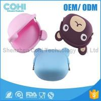 Cheap Fashionable animal waterproof rubber silicon bear shaped coin purse wholesale