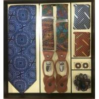 Cheap Men's Tie and Hanky and Boutineer and Cufflinks and Suspenders Special Necktie Gift Set wholesale