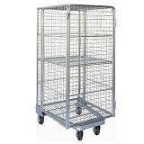 Cheap Folding Nestable Four Sides 4 Sided Full Security Wire Mesh Roll Cage wholesale