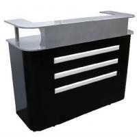 Cheap Reception Table Beauty Equipment Shaped Reception Desk Black Reception Desk Reception Station wholesale