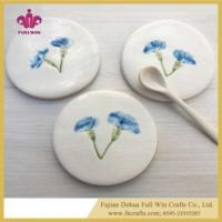 Ceramic Coaster Colorful or Blank Table Coaster for Cup Holder with Cork Base