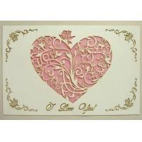 Cheap Holiday crafts Unique valentine card: carving heart card wholesale