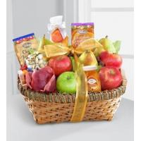 Sympathy Flowers Warmhearted Wishes Fruit & Gourmet Kosher Gift Basket