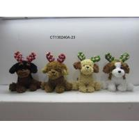 Cheap christmas puppy with antler wholesale