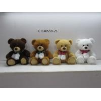 Cheap christmas bear with scarf wholesale