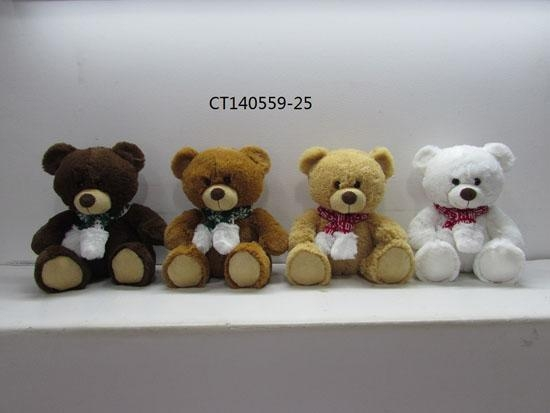 Quality christmas bear with scarf for sale