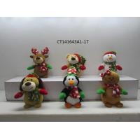 Cheap christmas animal with scarf and antler wholesale