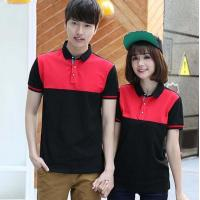 Mercerized Color Combination Collar Design Polo Shirts