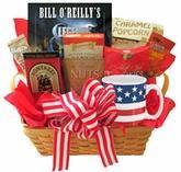Cheap All American Gift Basket with Book and Snacks wholesale