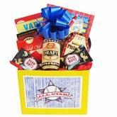 Cheap All Star Mens Gift Basket with Puzzle Books and Snacks wholesale
