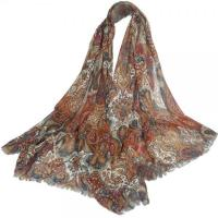 Cheap Ethnic Element Brown Long Women Scarves DS3011 wholesale