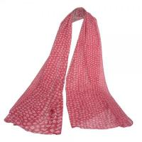 Cheap Red Long Women Scarves with White Floral Pattern DS3010 wholesale