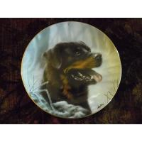 Cheap Art Glass Danbury Mint Collector plate Rottweillers series Frosty Morning wholesale