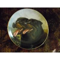 Cheap Art Glass Danbury Mint collector plate Dynamic Duo from Rottweillers series wholesale