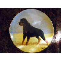Cheap Art Glass Danbury Mint collector plate Rottweilers series Noble Companion wholesale