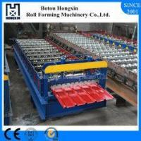 Hydraulic Roof Roll Forming Machine 4kw Hydraulic Unit Power 1220mm Feeding Width