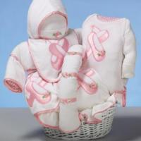 "Baby Gift Baskets ""Ballet Slippers"" Baby Gift Basket"