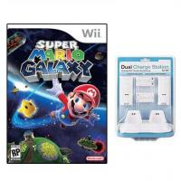 Cheap Wii Super Mario GALAXY Game PLUS Dual Charger for Wii wholesale