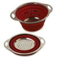 Cheap Hotsell Creative Design Silicone Stainless Steel Collapsible Silicone Colander wholesale