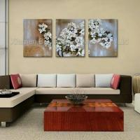Cheap Handmade Modern Type Flower Group Oil Painting wholesale